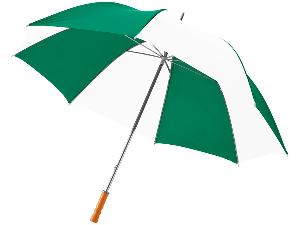 Зонт Karl 30 механический, зеленый/белый