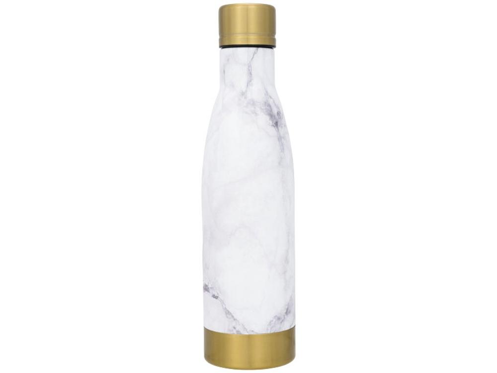 Медная бутылка Vasa с вакуумной изоляцией и мраморным узором, белый/золотой