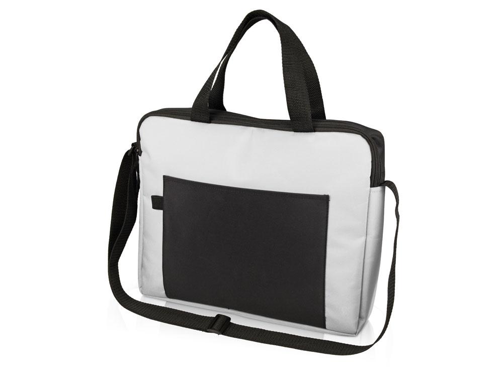 Конференц сумка для документов Congress, белый/черный