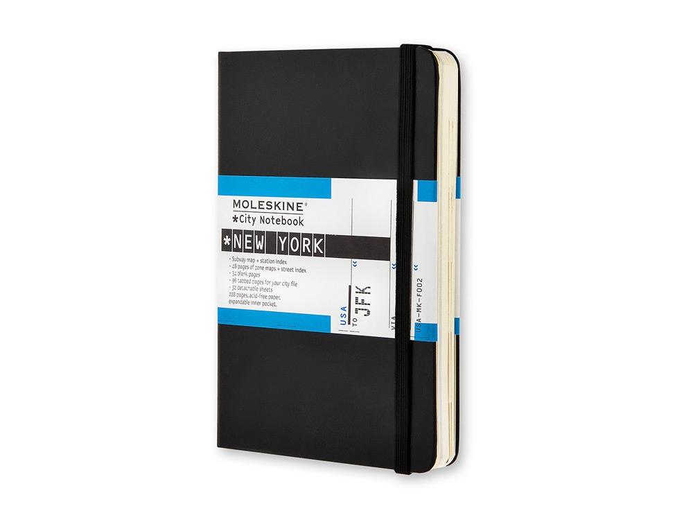 Записная книжка Moleskine City New York, Pocket (9x14 см), черный
