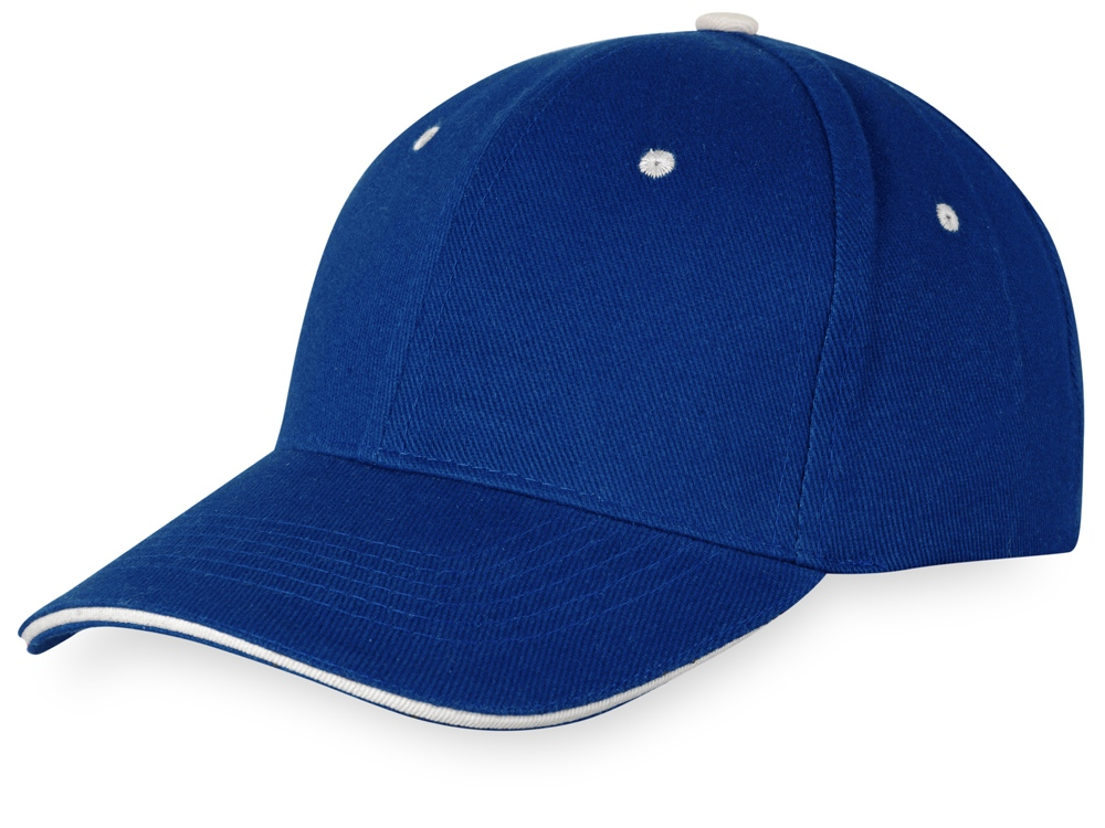 Бейсболка New Castle 6-ти панельная, темно-синий/натуральный