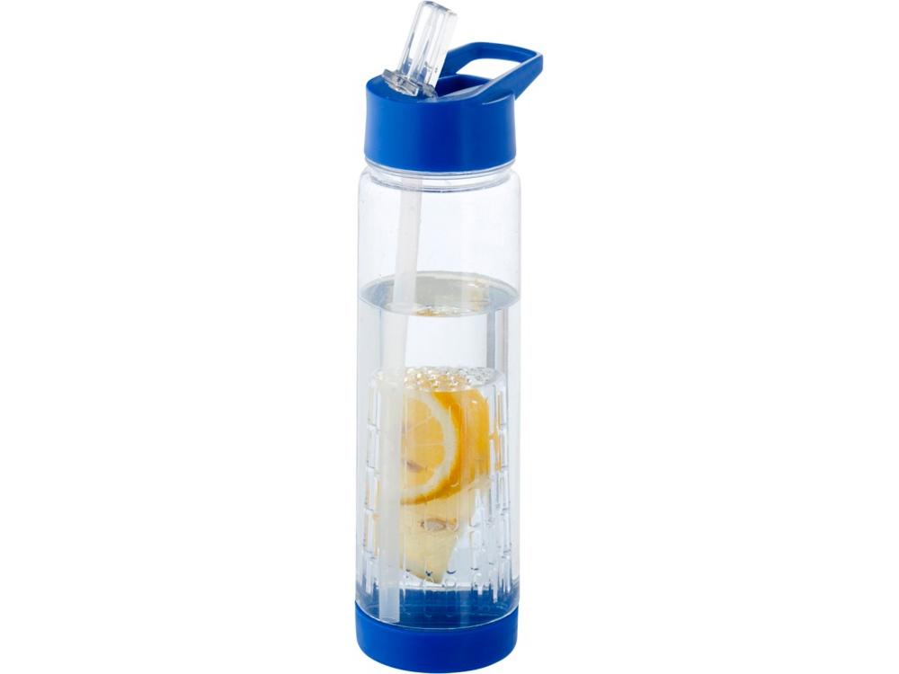 Бутылка Tutti Frutti с отделением для фруктов, синий