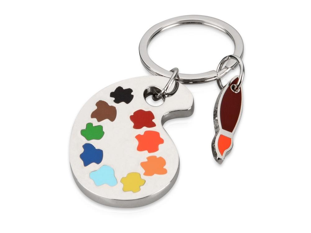 Брелок Палитра, серебристый/разноцветный