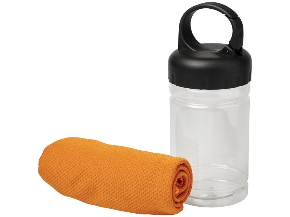 Охлаждающее полотенце Remy в ПЭТ-контейнере, оранжевый