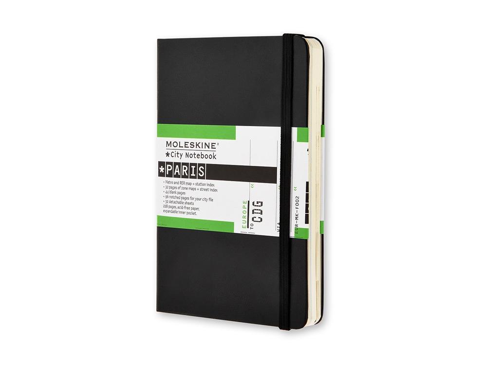 Записная книжка Moleskine City Paris, Pocket (9x14 см), черный