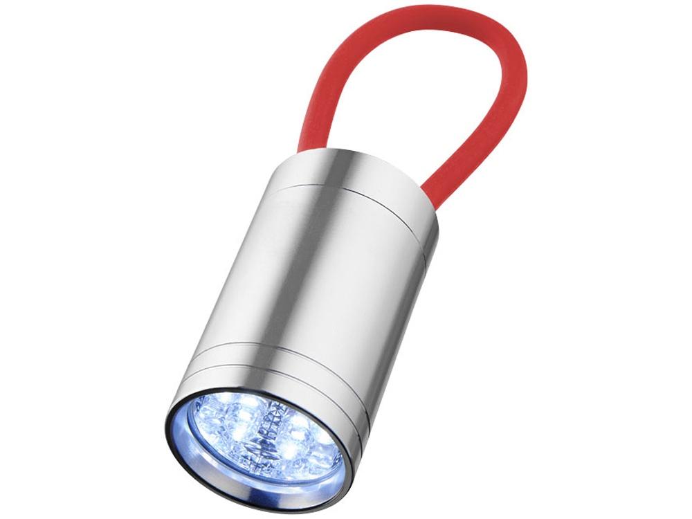 Фонарик Vela со светящимся ремешком, красный