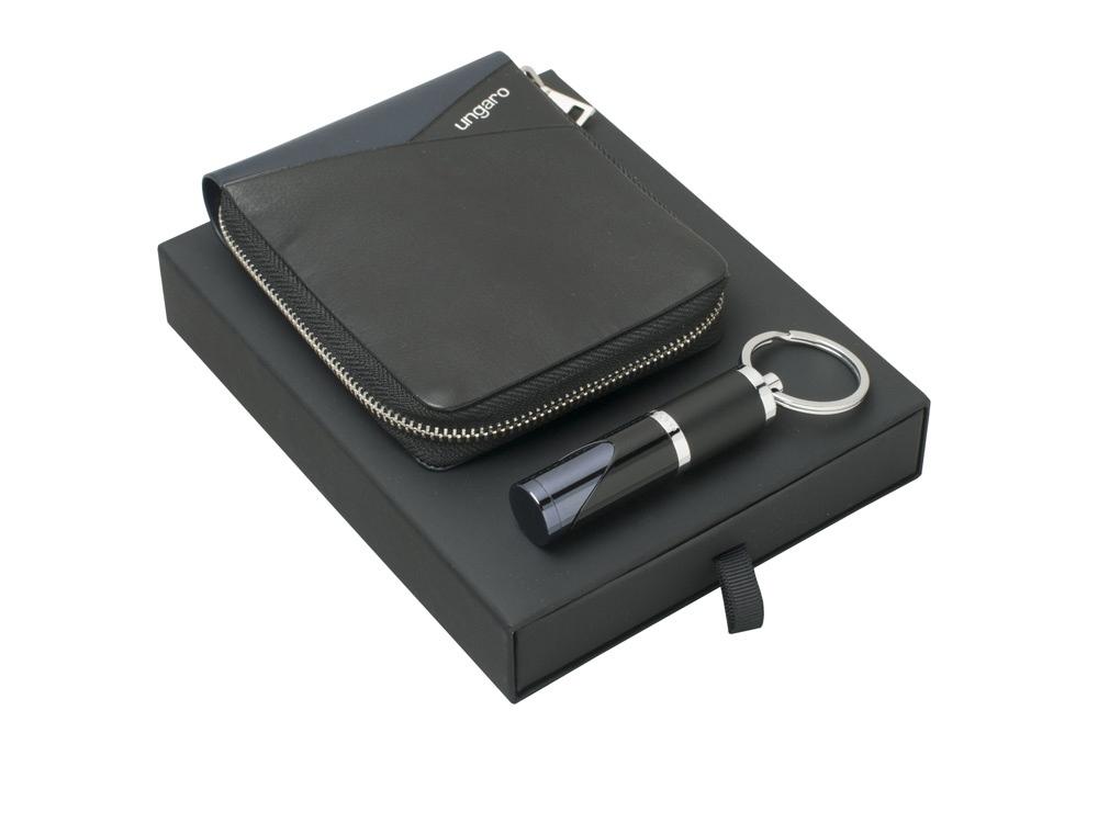 Подарочный набор Lapo: кошелек с застежкой-молнией, брелок. Ungaro