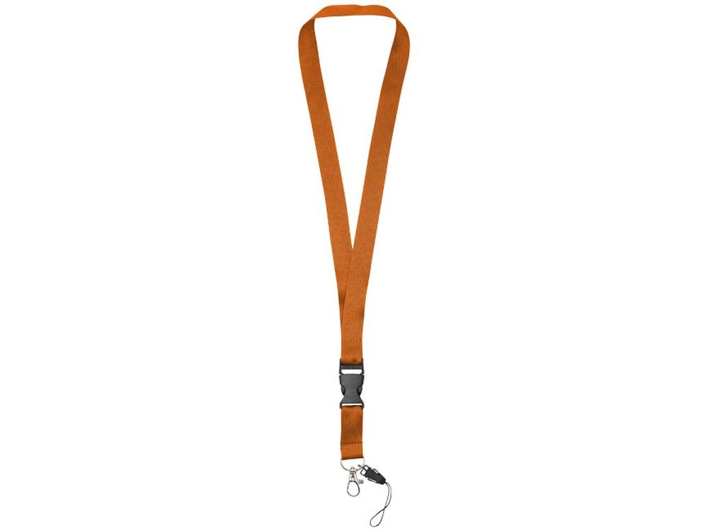 Шнурок Sagan с отстегивающейся пряжкой, держатель для телефона, оранжевый