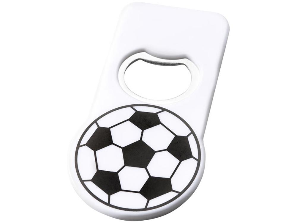 Футбольная открывалка для бутылок с магнитом, белый
