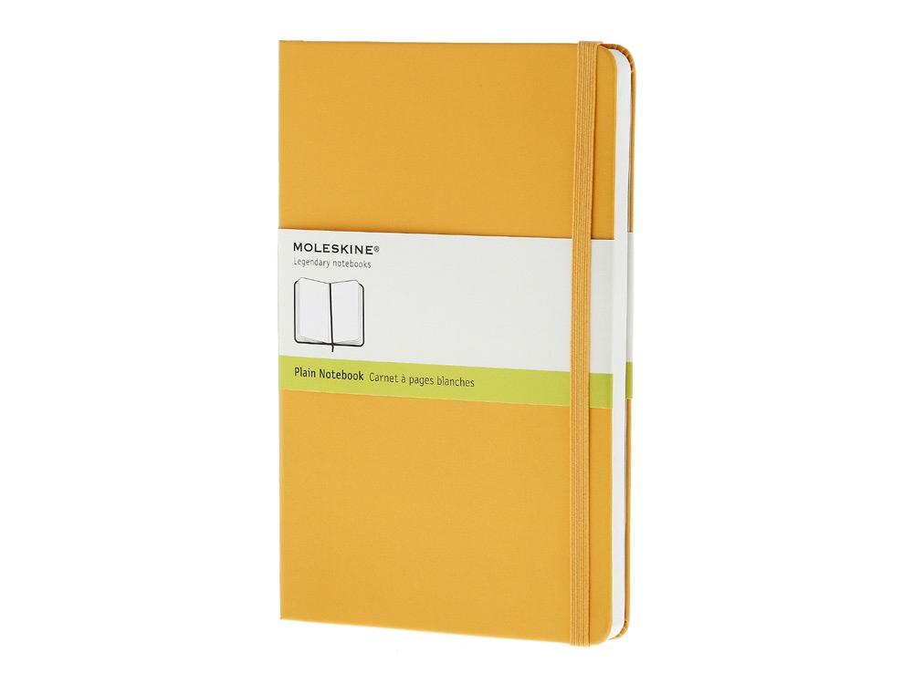 Записная книжка Moleskine Classic (нелинованный) в твердой обложке, Large (13х21см), оранжевый