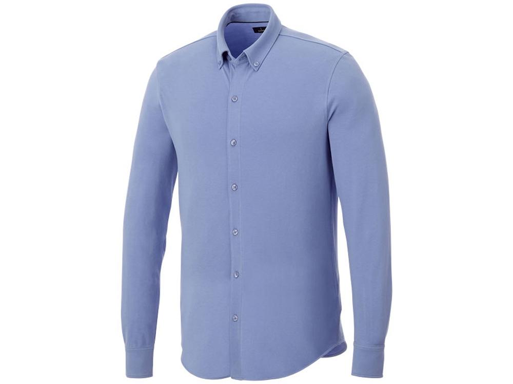 Мужская рубашка Bigelow из пике с длинным рукавом, светло-синий