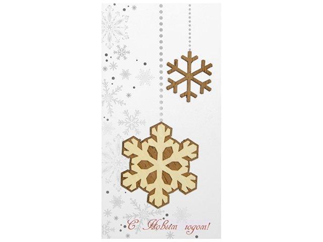 Открытка «Новогодние снежинки»