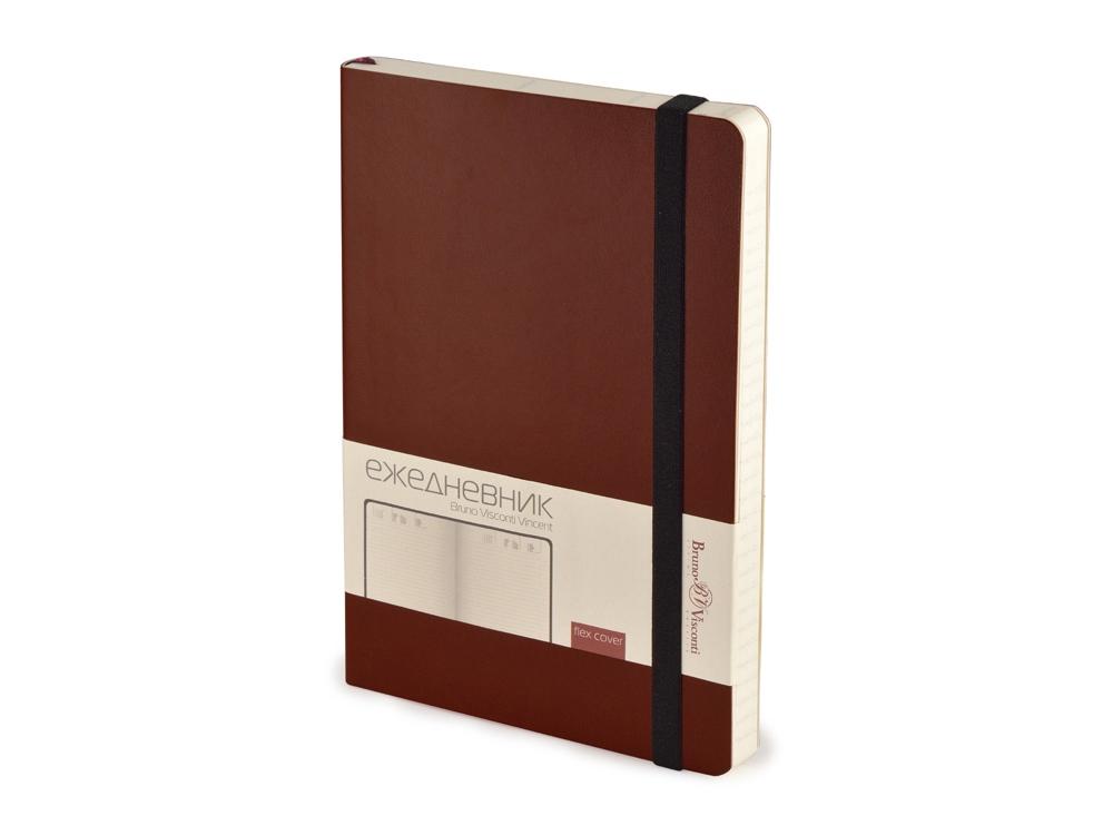 Ежедневник недатированный А5 Vincent, коричневый