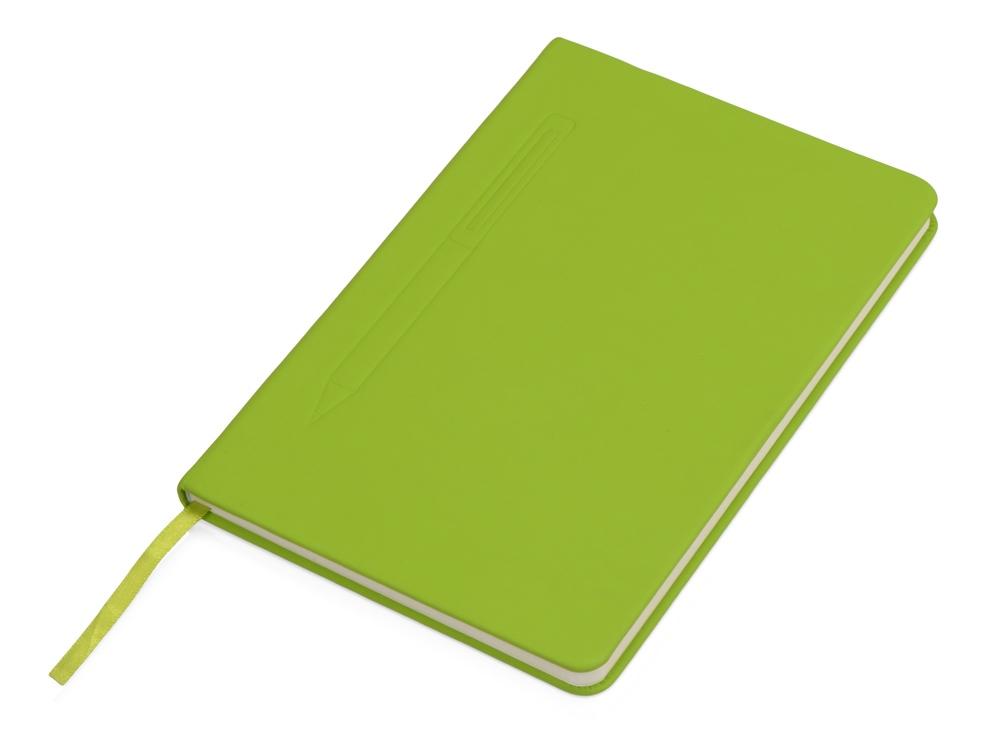 Блокнот А5 Magnet 14,3*21 с магнитным держателем для ручки, зеленое яблоко