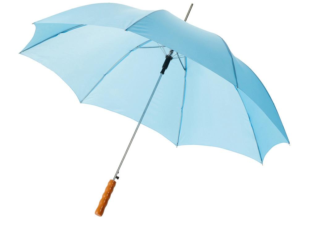 Зонт-трость Lisa полуавтомат 23, голубой