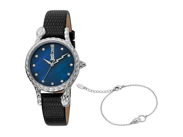 Подарочный набор: часы наручные женские, браслет (арт. 60015)