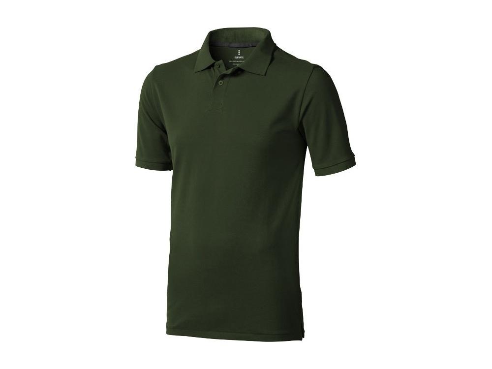 Рубашка поло Calgary мужская, армейский зеленый