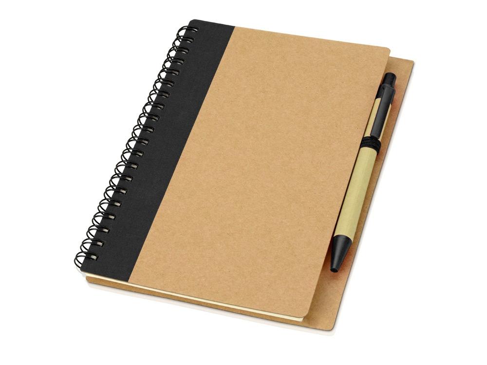 Блокнот Priestly с ручкой, черный