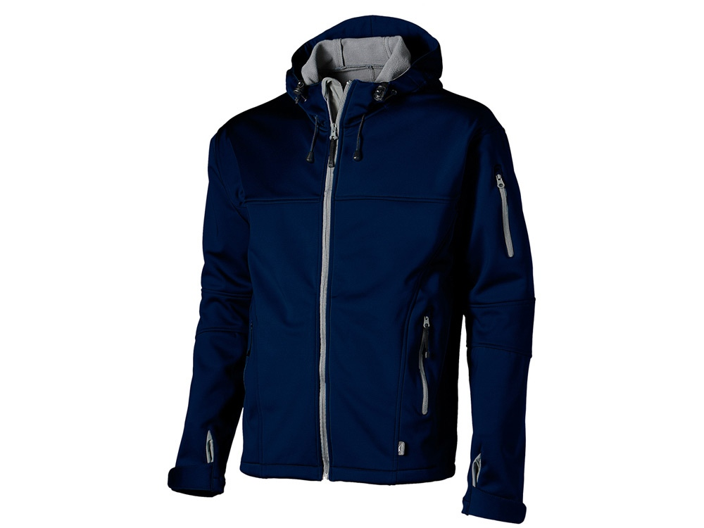 Куртка софтшел Match мужская, темно-синий/серый