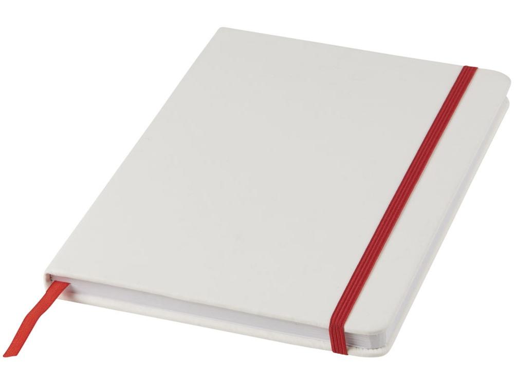 Блокнот А5 Spectrum, белый/красный