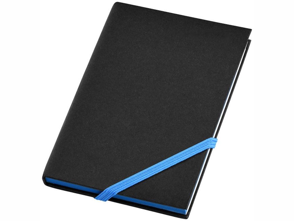 Блокнот А6 Travers Junior, черный/голубой