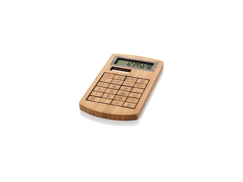 Калькулятор 8-ми разрядный Eugene, коричневый