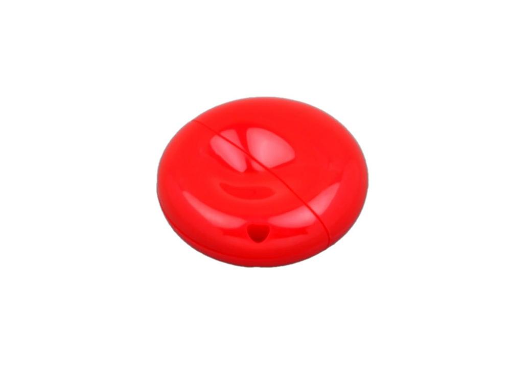 Флешка промо круглой формы, 16 Гб, красный