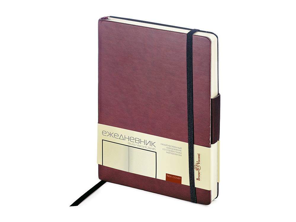 Ежедневник А5 недатированный Zenith, коричневый