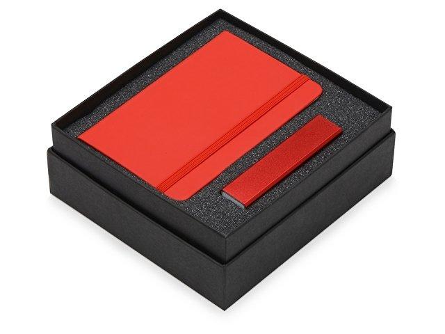 Подарочный набор To go с блокнотом А6 и зарядным устройством