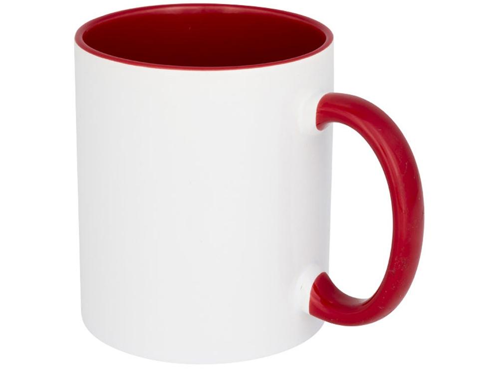 Цветная кружка Pix для сублимации, белый/красный