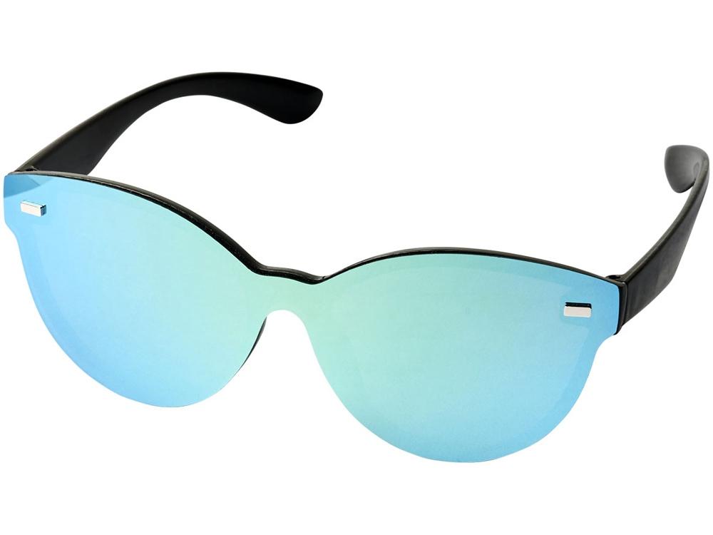 Солнцезащитные очки Shield с полностью зеркальными линзами, желтый