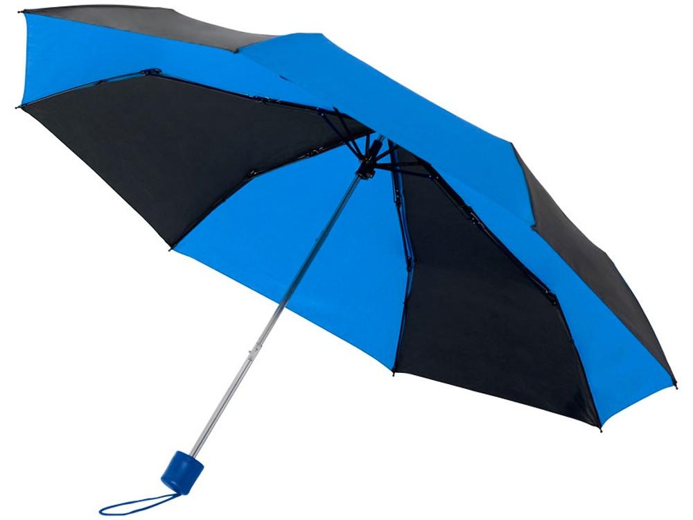 Зонт Spark 21 трехсекционный механический, черный/cиний