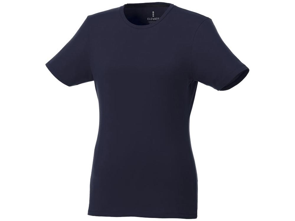 Женская футболка Balfour с коротким рукавом из органического материала, темно-синий