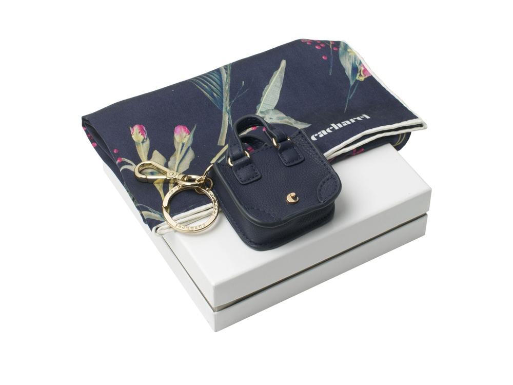 Подарочный набор: шелковый платок, брелок. Cacharel
