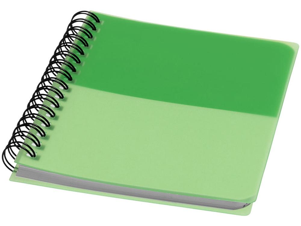 Блокнот Colour Block А6, зеленый