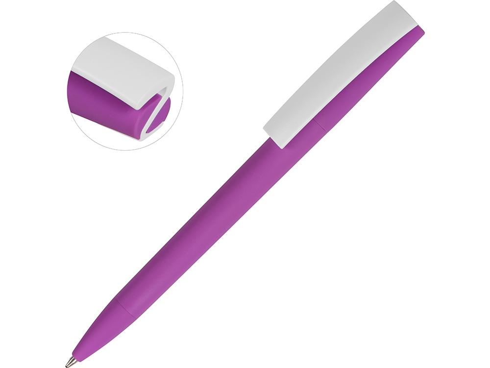 Ручка пластиковая soft-touch шариковая Zorro, фиолетовый/белый