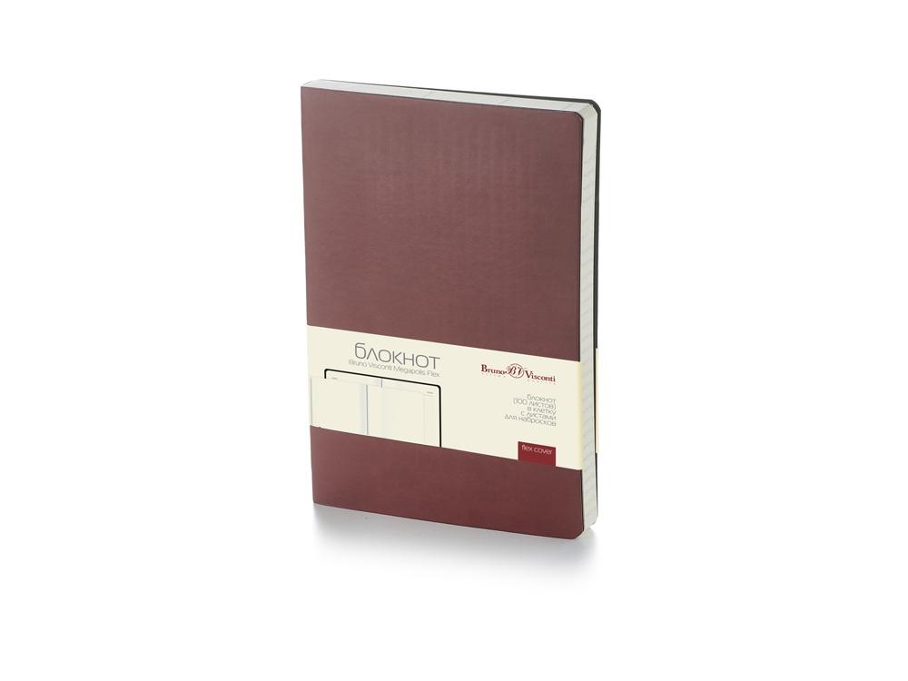 Блокнот А5 Megapolis Flex soft-touch, коричневый