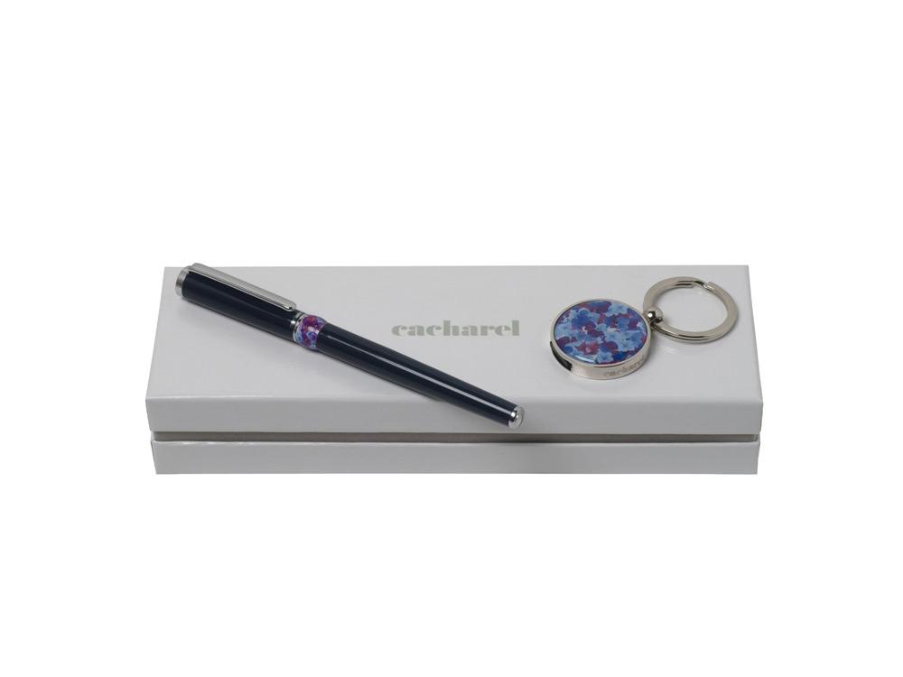 Подарочный набор Blossom: брелок с USB-флешкой на 16 Гб, ручка-роллер. Cacharel