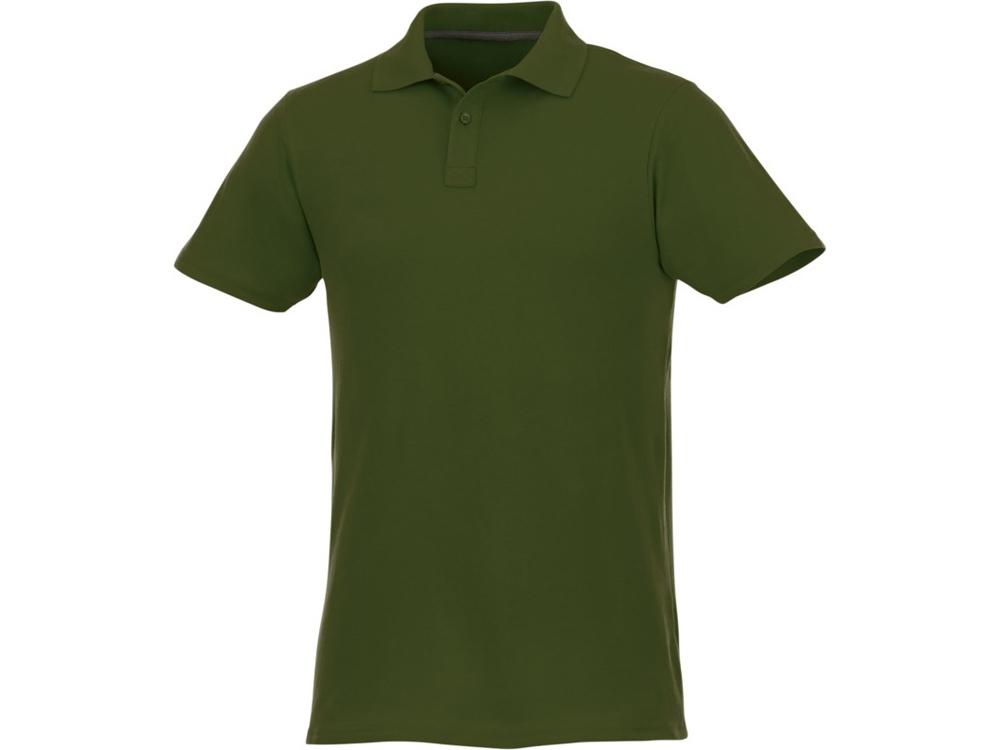 Мужское поло Helios с коротким рукавом, зеленый армейский