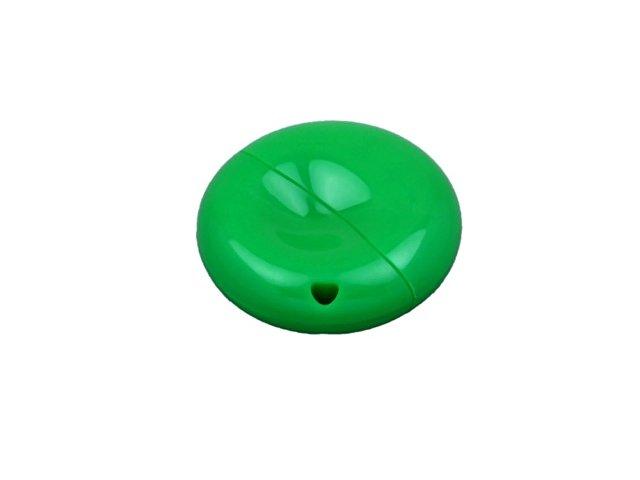 Флешка промо круглой формы, 32 Гб, зеленый