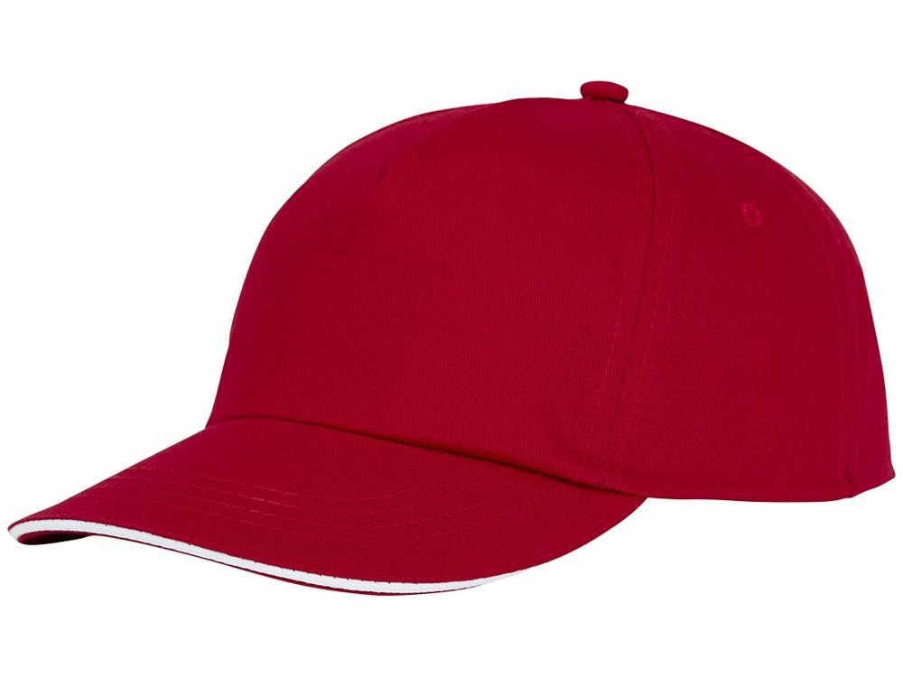 Пятипанельная кепка-сендвич Styx, красный