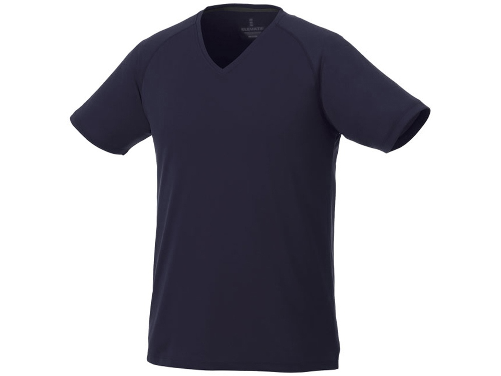 Модная мужская футболка Amery с коротким рукавом и V-образным вырезом, темно-синий