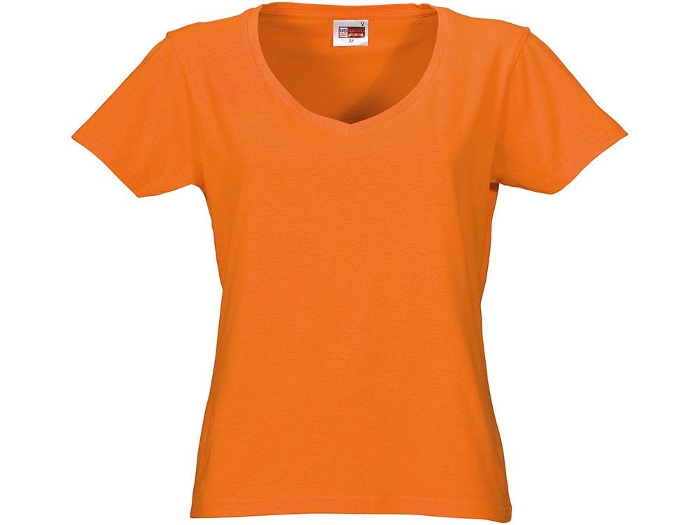 Футболка Heavy Super Club женская с V-образным вырезом, оранжевый