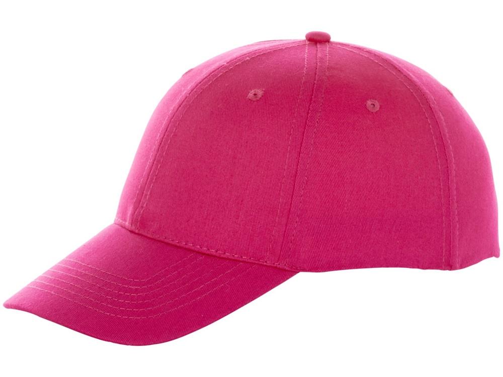 Бейсболка Watson, 6 панелей, розовый