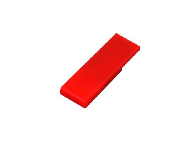 Флешка промо в виде скрепки, 32 Гб, красный