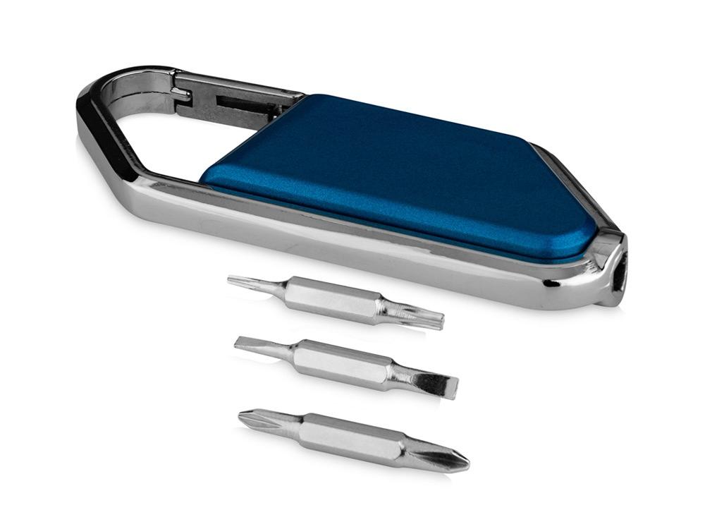 Набор отверток с карабином Ifix, синий/серебристый