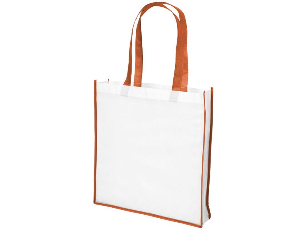 Большая контрастная нетканая сумка-тоут для покупок