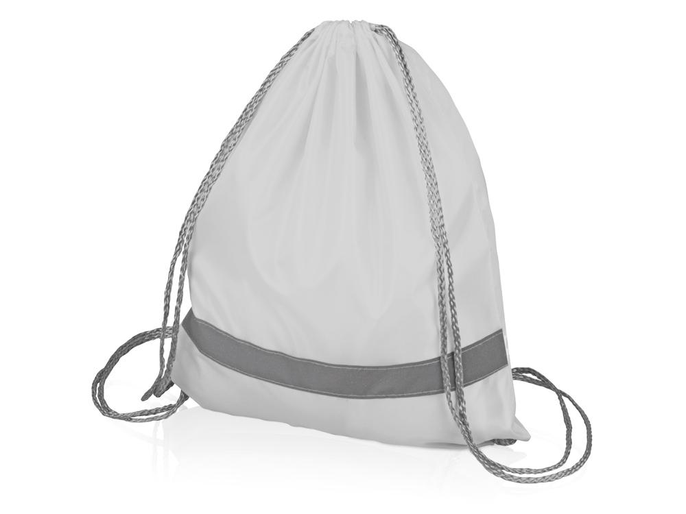 Рюкзак Россел, белый с серыми шнурками