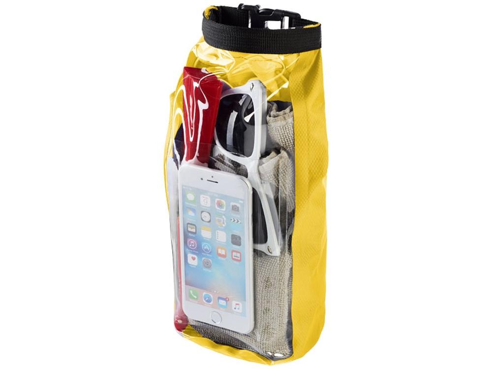 Туристическая водонепроницаемая сумка объемом 2 л, чехол для телефона, желтый