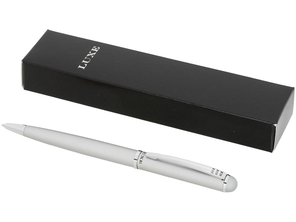 Ручка металлическая шариковая, серебристый